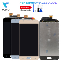 5pcs J3 2017 LCD For Samsung Galaxy pro J330 J330F Phone Display Touch Screen Digitizer Assembly With Brightness