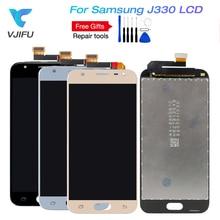 5pcs J3 2017 LCD For Samsung Galaxy J3 pro 2017 J330 J330F Phone LCD Display Touch Screen Digitizer Assembly With Brightness can adjust brightness j330 lcd for samsung j3 2017 j330 j330f lcd digitizer touch screen assembly