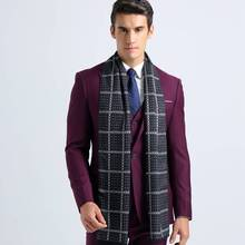 Wholesale Tartan Bufandas For Men Design Casual Foulard Winter Luxury Brand Business Scarf YJWD328