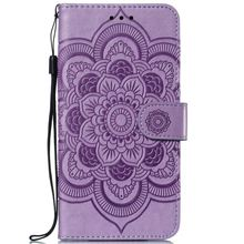 Datura Flower Leather Wallet Covers sFor Case Sony Xperia XZ3 For XA3 Mandala Sunflower Frame Flip Fundas Stand Capa DP13F