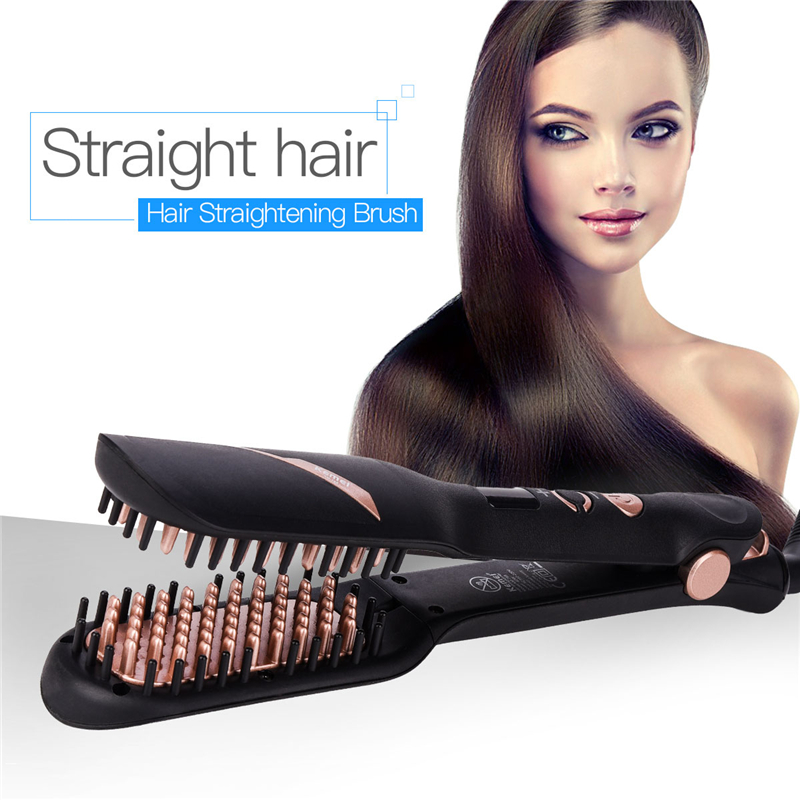 110-220V Ceramic Ionic Comb Anti Static Professional Hair Straightener Straightening Iron Brush Fast Flat Iron With LCD Display бензиновый кусторез husqvarna 226hd60s