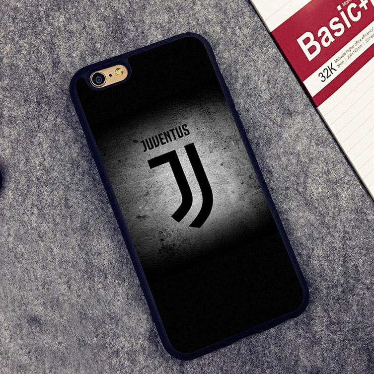 Juventus sports logo Soccer Soft Silicone Full Protective case Cover For iPhone X 8 7 7Plus 6 6S Plus 5 5S SE