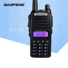 Free Shipping Walkie Talkie BaoFeng UV-82 Dual-Band 136-174/400-520 MHz FM Ham Two way Radio Transceiver BaoFeng 82 CB Radio