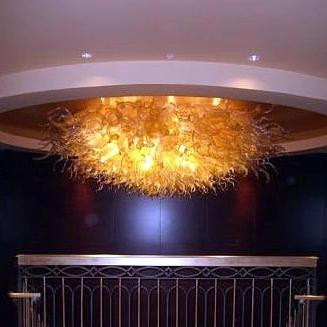 LED Light Fixture Contemporary Dale Chihuly Murano Glass Ceiling ...