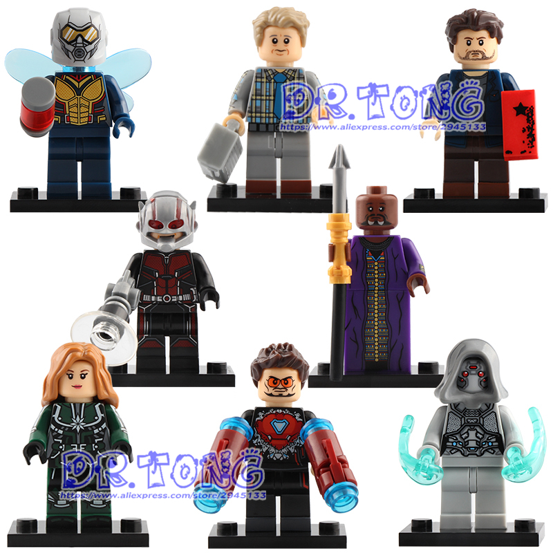 Discreet Single Sale Super Heroes Figures Antman Wasp Iron Man Baron Zemo Erik Selvig Ghost Zuri Building Blocks Toys Children Gift X0197 A Plastic Case Is Compartmentalized For Safe Storage Model Building