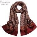 Двойной Слой 100% Чистого Шелка проверил шарф мужчины Платок Зима мода Британский Красное вино Плед Длинные Шарфы Мужские большой шелковый шарфы