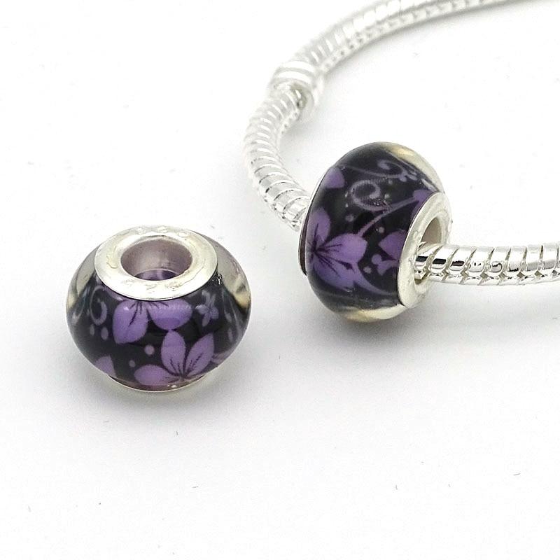 10PCs Fashion Christmas Charms Beads European Bracelet Jewelry Accessories