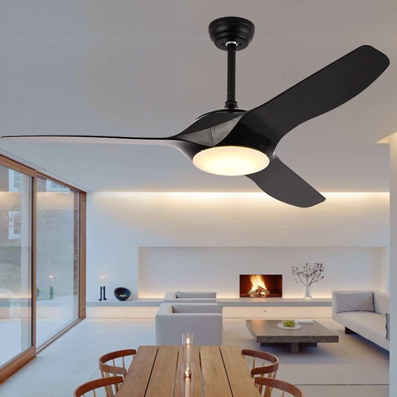 Moderne ventilateur de plafond lumière Avec télécommande Chambre lampe ventilateur Salon Salle À Manger Enfants Étude Bureau ventilateur de plafond Lampes 52 pouces