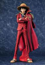 Jeden kawałek Luffy 20. Rocznica Ver. Pcv figurka czerwony płaszcz ostateczny król Luffy Sanji Zoro OP Model kolekcjonerski 25cm
