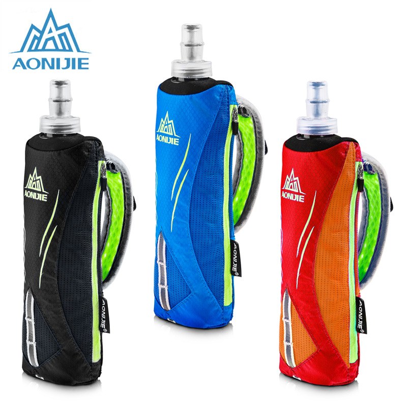 AONIJIE Running Kettle Pack Outdoor Sports water bottle Bag Men Cycling Running HandHeld Kettle Bag With 500ML Soft Water Flask aonijie foldable soft water bag outdoor sports kettle water storage bottle running hiking travel flask bottle 250ml 500ml