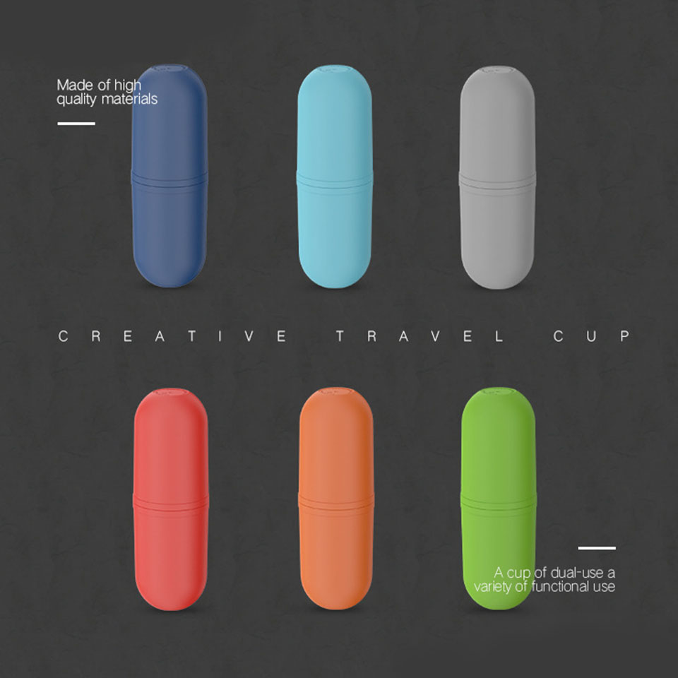 Image 5 - Portable Family Travel Toothbrush Case Capsule Toothpaste Box Mouth Mug Travel Toothbrush Storage Box Wash Cup Set-in Storage Boxes & Bins from Home & Garden