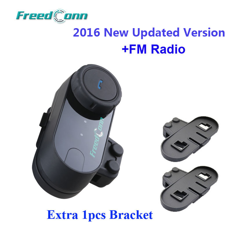 Updated Version FreedConn T COM VB Bluetooth BT Helmet Intercom Headset with FM Radio Extra 1pcs