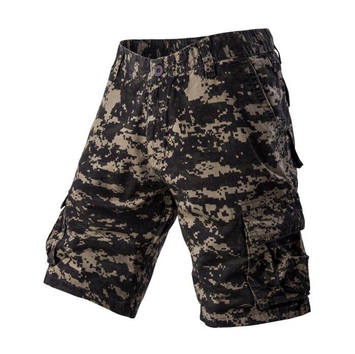 Новые камуфляжные мужские шорты-карго, бермуды, мужские повседневные шорты-карго, мужские камуфляжные шорты-карго в стиле милитари - Цвет: Green Camouflage