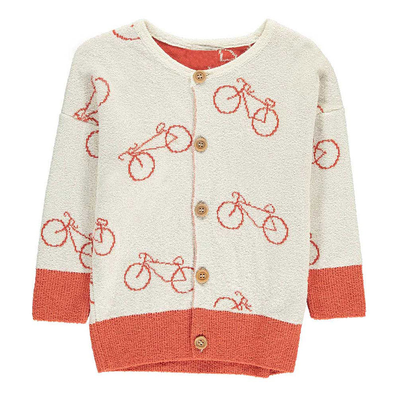 ddbd0e42f015 bobo choses Spring Autumn Boys and Girls Long Sleeve Sweater Coat ...