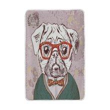 Perro Pug Vintage con gafas rojas manta suave cálida cama cómoda sofá ligero manta de poliéster