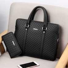 Nuevo maletín de negocios de cuero de doble capa para hombre, bolso de hombro informal para hombre, bolso de mensajero para hombre, portátil, bolsos de viaje para hombre