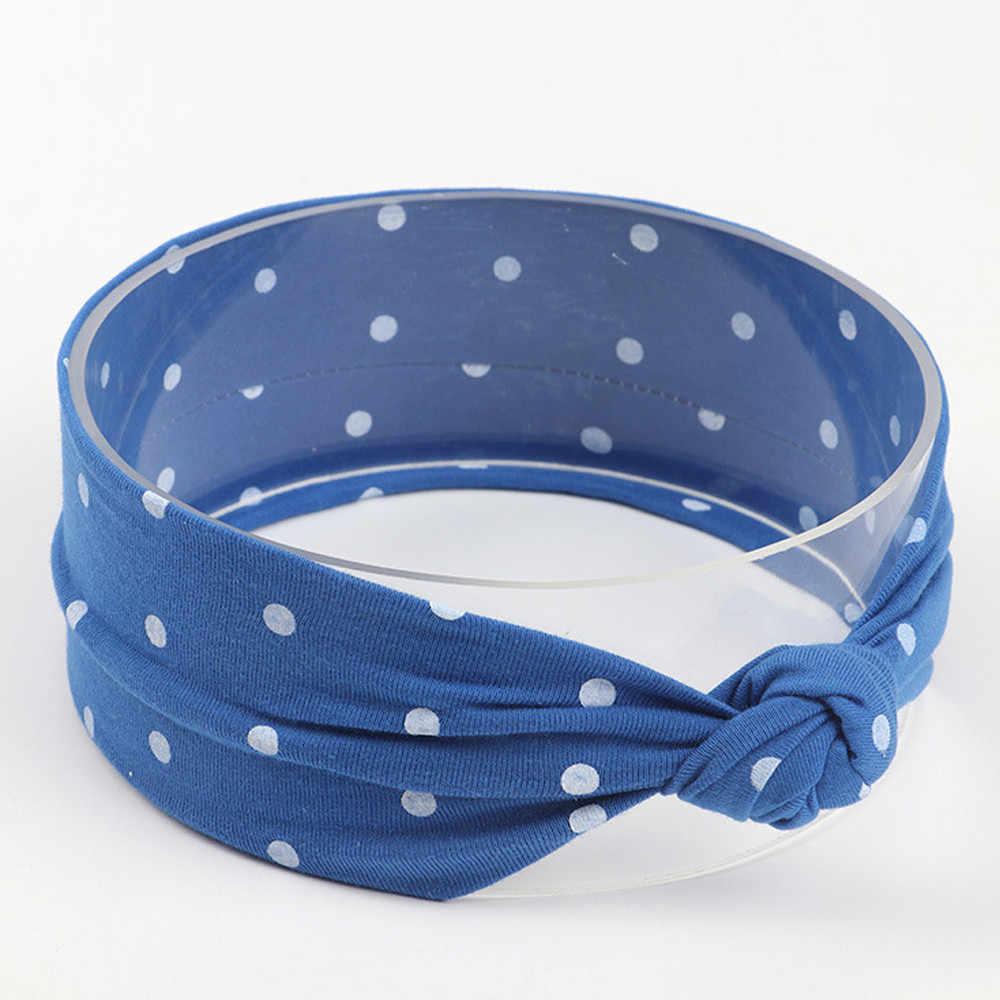MUQGEW 1 ชิ้นเด็กน่ารักเด็กวัยหัดเดินเด็กทารก Bowknot Dot Headband ยืด Hairband Headwear เด็ก Head Bands อุปกรณ์เสริมผม