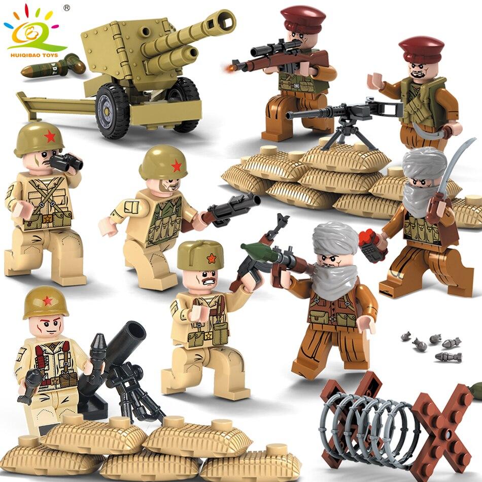 1979 warfire Militaire Armée soldats Armes Canons Figure WW2 Swat Team building Blocks Compatible Legoed Ville Police Enfants Jouet