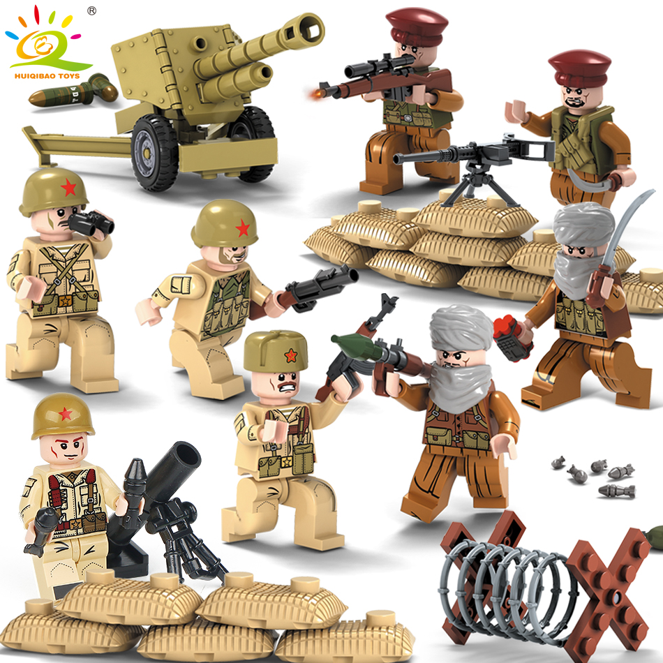 1979 warfire Military Army soldiers Weapons Guns Figure WW2 Swat Team building Blocks Compatible Legoed City Police Children Toy