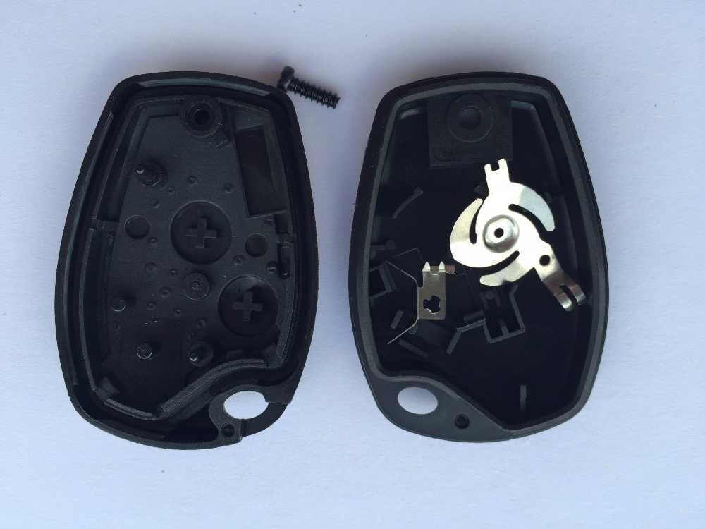 1 pz Nuovo Caso Chiave A Distanza Dell'automobile Borsette In Bianco no logo Per Renault Vivaro Movano Traffic Master 2 Bottoni 206 (senza NE73 Lama)