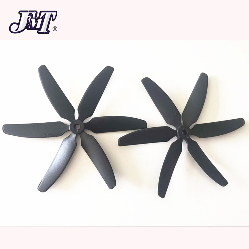 цена на JMT 1 Pair 5040 5x4 CW CCW 6-Leaf Propeller Props for DIY RC Racing Drone Quadcopter FPV 250 280 320