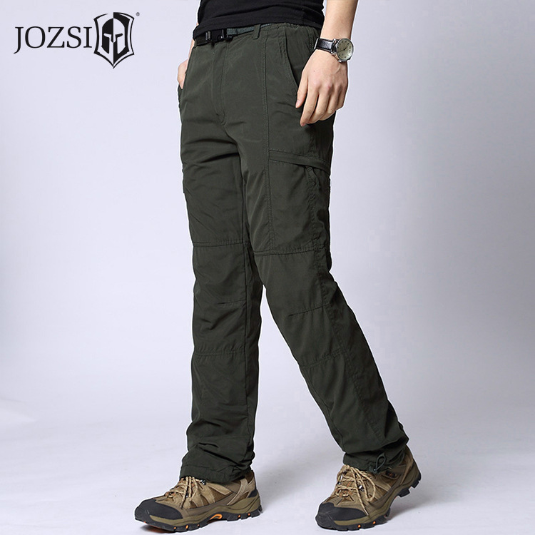 Men's Tactical Cargo Pants Autumn Winter Men Fleece Warm Fleece Pant Combat Baggy Cotton Multi-Pocket Trousers Army Military