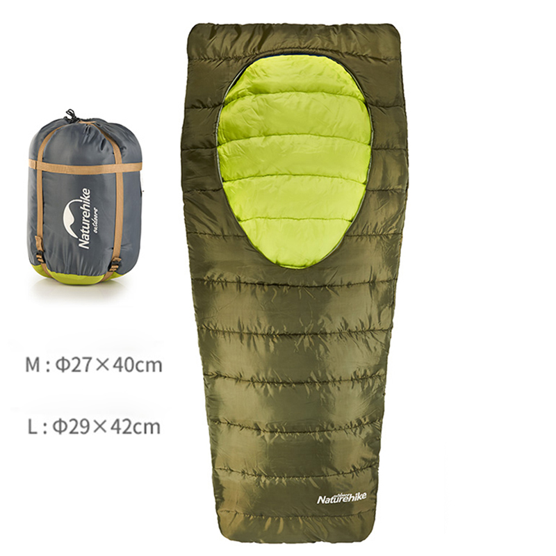 NatureHike Outdoor Camping Sleeping Bag Autumn Spring Travel Hiking Cotton Sleeping Bags 4 Colors 2 Sizes 5 colors new multifunction outdoor sleeping bag portable envelope camping travel hiking bag hw092