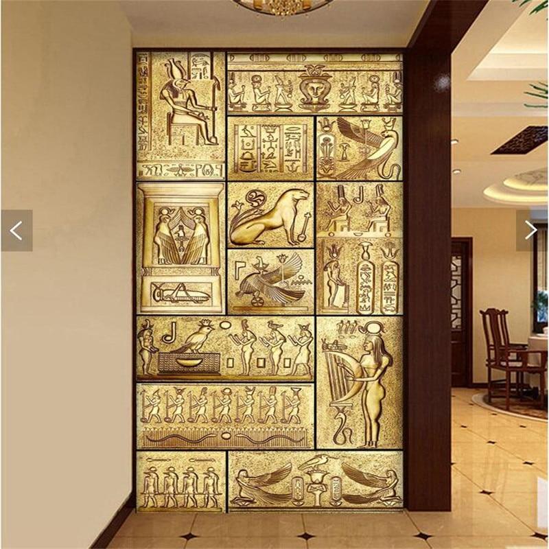 Wall paper 3d art mural hd beauty of ancient egyptian for Ancient egyptian mural