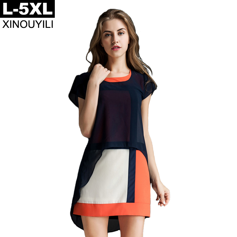 European style Summer Dress O-neck butterfly sleeve loose bis