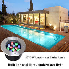1 шт 36 Вт светодиодный подземный светильник ip65 заглубленный