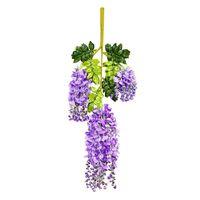 Boutique de práctica de Wisteria Vides 12 unids Glicinas Artificial Guirnaldas de Flores para la Tienda de Fotografía De La Boda Home Party Decor