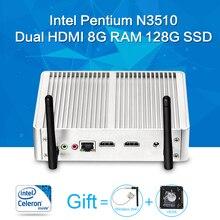 Mini PC, Celeron N3510 8 Г RAM 64 Г SSD, портативный Компьютер, Материнская Плата Может Внешний Жесткий Диск, Кабель Компьютера Тонкий Клиент