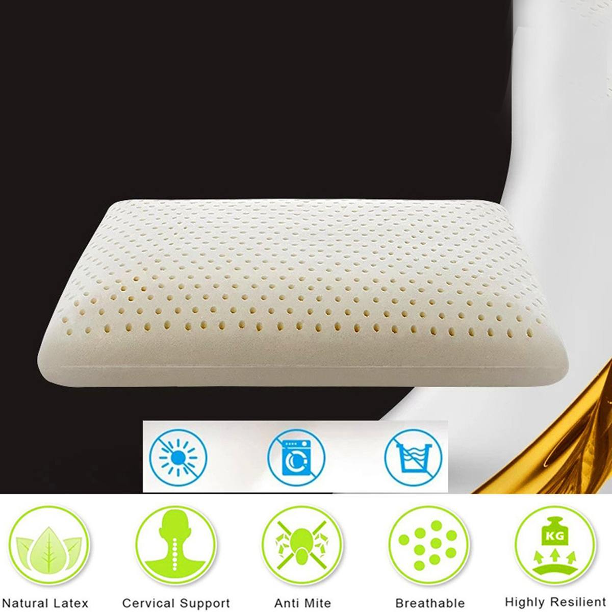 VENTRY 100/% Natural Latex Pillow Standard size Neck Support Wave Shape