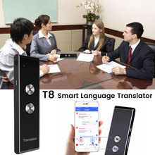 Portable T8 Smart Voice Speech Translator Two Way Real Time 30 Multi Language Translation For Learning Travelling Business Meet