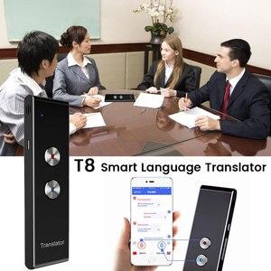 Image 1 - ポータブル T8 スマート音声通話翻訳双方向リアルタイム 30 多言語の翻訳学習旅行ビジネス満たす