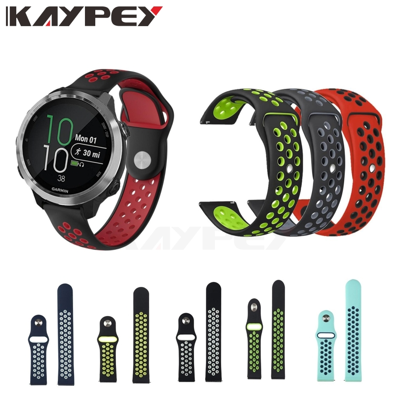 Colorful Soft Silicone Watch Strap Band For Garmin Forerunner 645  Vivoactive3 3 Vivomove HR Smart Watch Replacement Bracelet