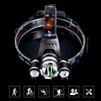 NEW 5000LM CREE 2*XM L T6+1*T2 Headlight Waterproof Head Torch flashlight Head lamp Fishing Hunting Light 18650 Cells Headlight