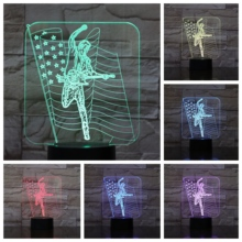 Guitar singer concert Usb 3d Led Night Light Multicolor Rgb Boys Kids Baby Gifts American flag luminaria Table Lamp Bedside