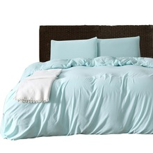 цена American Style Solid Color Duvet Cover Set With Pillowcase High Quality Washable Bedlinens US Twin Queen King Size Bedding Sets онлайн в 2017 году