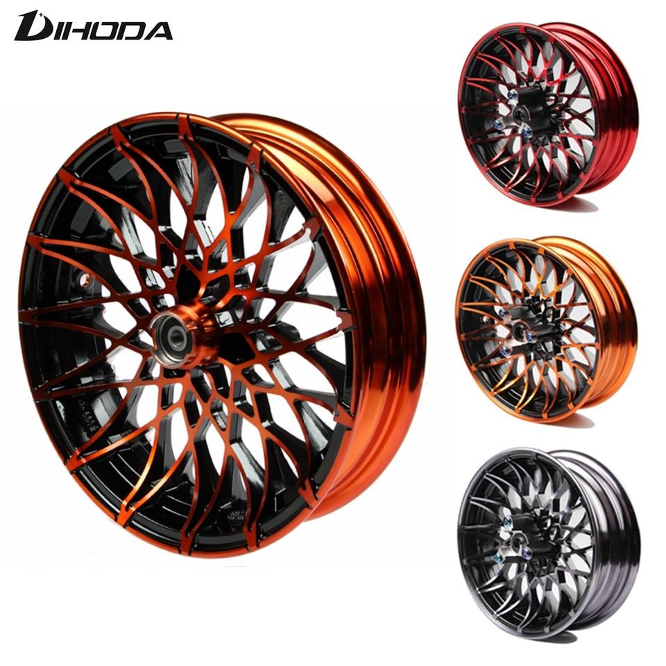 Universal 10*2.15 12*2.75 Motorcycle chrysanthemum-type modified front wheel Rims For Single Disc Disk Brake