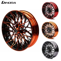 Universal 10*2.15 12*2.75 Motorcycle chrysanthemum type modified front wheel Rims For Single Disc Disk Brake