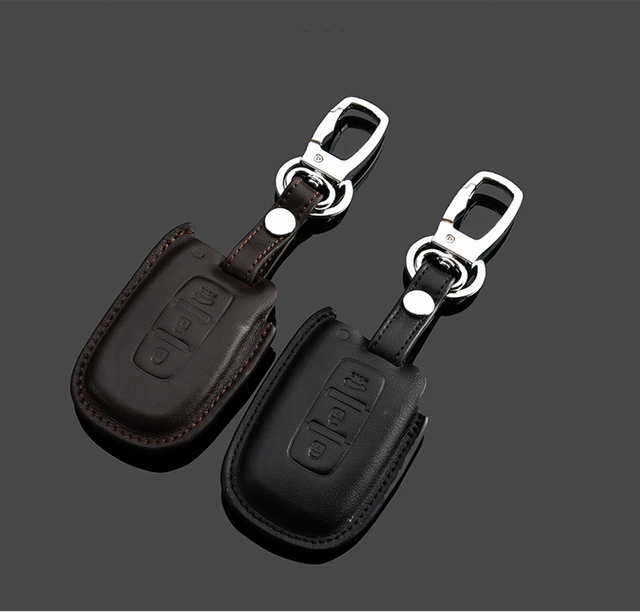 Key Rings For Hyundai IX35 Solaris Elantra Avante Mistra  Genuine Leather 3D Effect Free Shipping