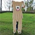 """Hot Sale 200cm/79"""" inch Big Size USA Teddy Bear Large Bearskin Giant Bear Semi-finished bear Plush Bear Skin Free Shipping"""