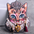 Statement Cartoon Queen Cat Brooches For Women Badges Pins Fashion New Pearl Hijab Accessories Nicely Bags Jewelry Broches Broch