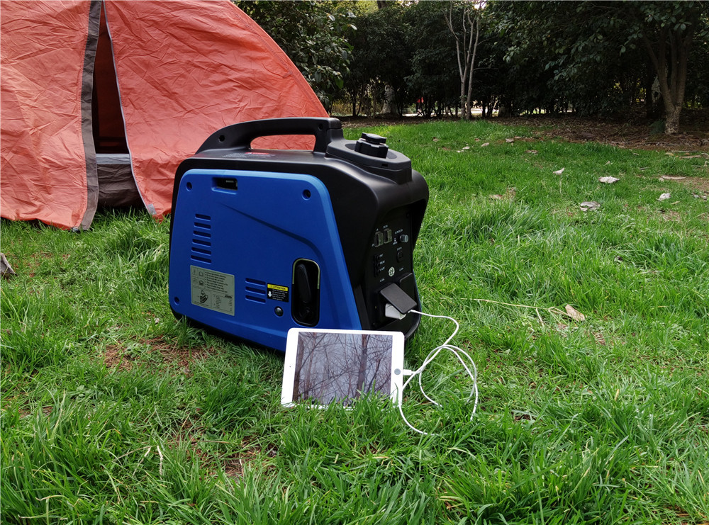 small portable gasoline generator AC single phase 2KW pure sure wave digital gasoline