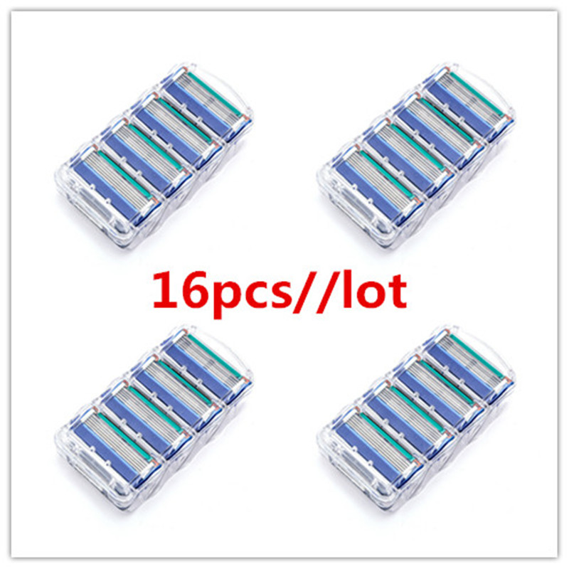 16pcs/lot Professional Shaving 5 Layers Razor Blades Compatible For Gillettee Fusione For Men Face Care Or Mache 3