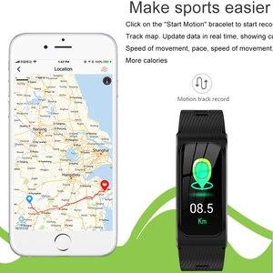 Image 3 - Intelligente wristband AK12 IPS schermo a colori fitness Bluetooth braccialetto per gli uomini/donne sfigmomanometro ciclo mestruale attività monitor