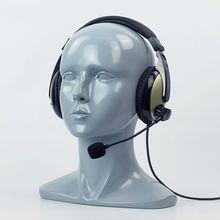 56 CM Fiberglass Gray Female Mannequin Dummy Head For Hat Sunglass VR Helmet Headset Display