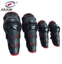 цена на JIAJUN 4pcs Ski Motorcycle Protective Uniform Pants Tactical Knee And Elbow Protector Pads Set Knee & Elbow Pads