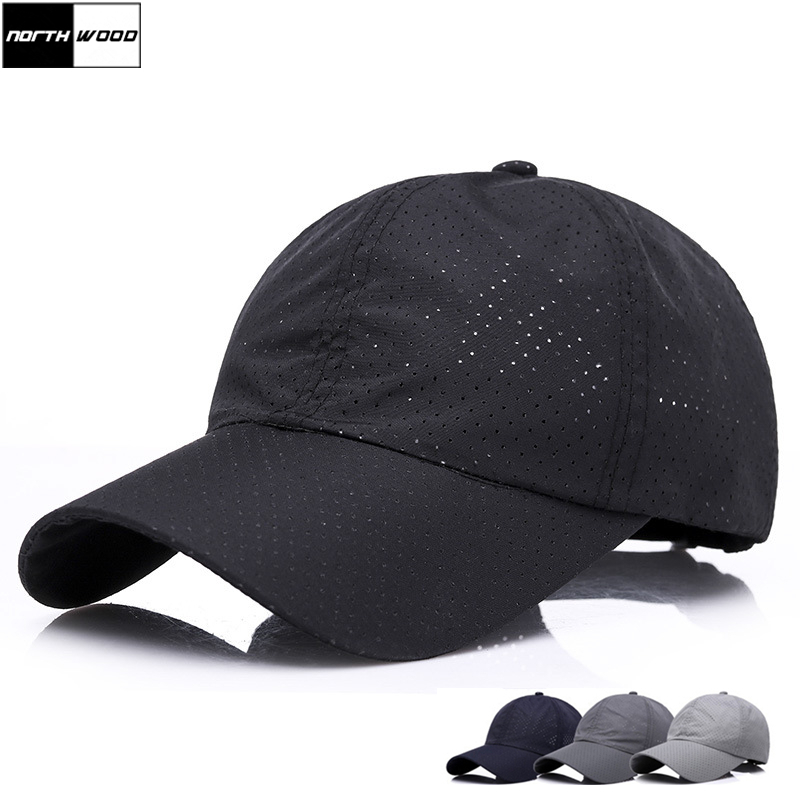 [NORTHWOOD] 2018 Solid Summer   Cap   Snapback   Baseball     Cap   Men Breathable Mesh Hat Gorras Para Hombre Bone Casquette   Baseball     Caps
